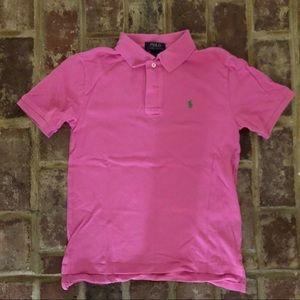 Girls pink Polo by Ralph Lauren shirt